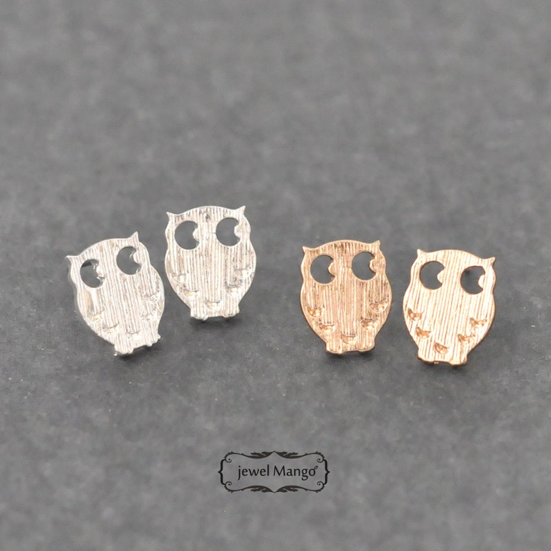 2bc0e1497 Owl stud Earrings gold or silver silver Owl stud gold Owl | Etsy