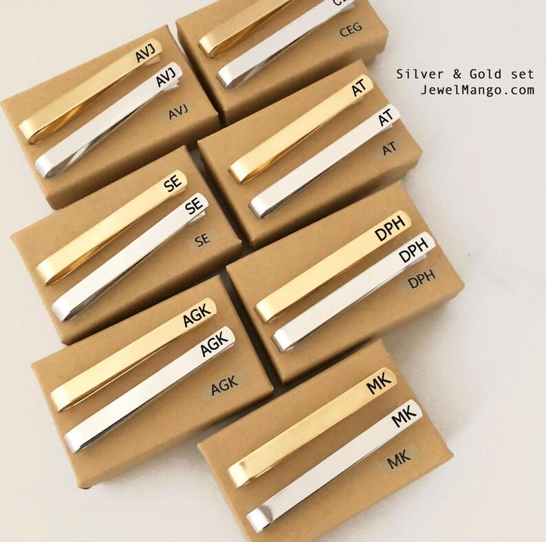 39739ff0a27f Groomsmen gift set Personalized Tie Clip Skinny Tie short | Etsy