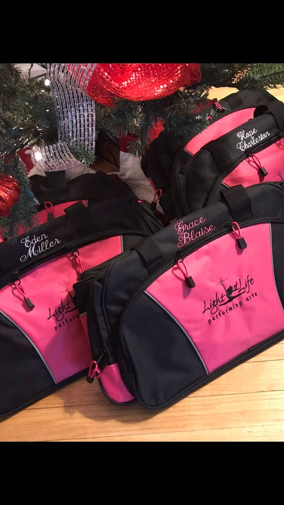 Gym Bag Jazz Dancer Personalized Bag Jazz Dance Bag Personalized Dance Bag Gymnastics Bag Monogrammed Dance Bag