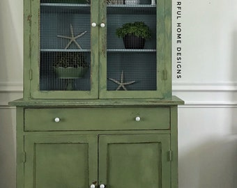 Farmhouse Cabinet, Farmhouse China Cabinet, Farmhouse Cupboard, Cottage  Cabinet, Cottage Style China Cabinet, Pick Up Only