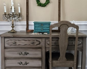 SOLD  Vintage French Provincial Vanity Annie Sloan Coco Pick Up Only