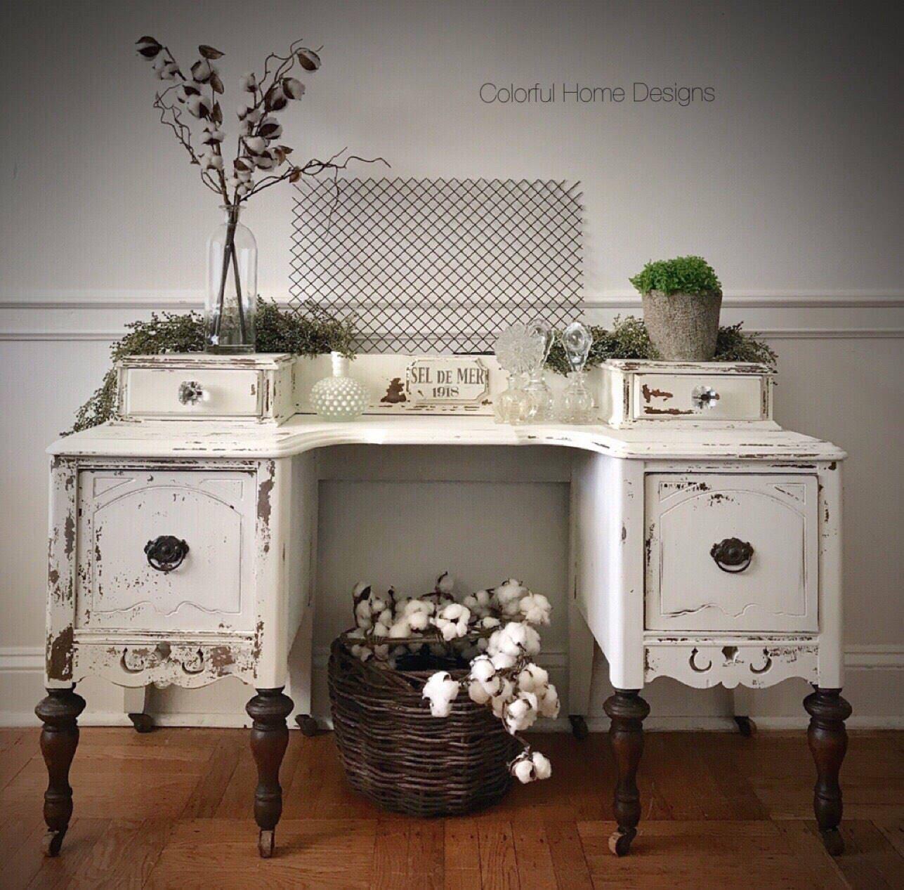 SOLD Antique Vanity, Vintage Vanity, Painted Vanity, Shabby Chic vanity,  Farmhouse Vanity, Pick Up Only - SOLD Antique Vanity, Vintage Vanity, Painted Vanity, Shabby Chic