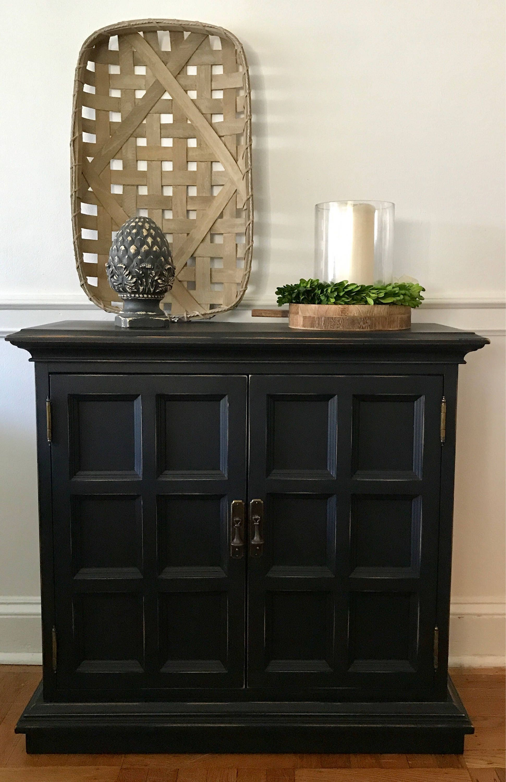SOLD Ethan Allen Console, Farmhouse Console, Rustic Console, Painted Console,  Entry Cabinet, Entry Table, Foyer Table, Pick Up Only