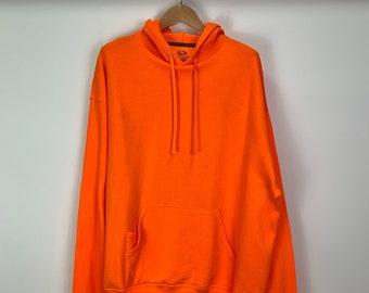 70s Burn/'t Orange Duluth The Boss Zip Hoodie Sweatshirt XL