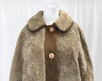 e12bb048b9bbf Vintage Teddy Bear Coat with Suede Trim