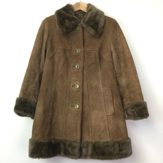 Vintage 1960's Brown Sheepskin Jacket