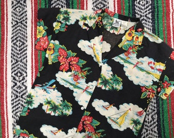 Cloud Print Cotton Shirt
