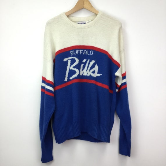 Vintage 1980's Cliff Engle Buffalo Bills Knitted J
