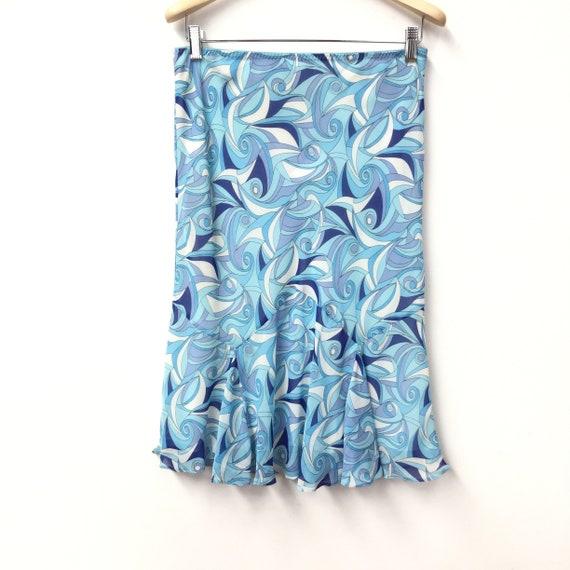 1990s Flared Hem Chiffon Skirt