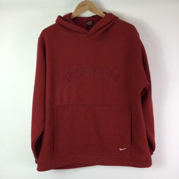 Vintage Y2K Nike Oklahoma Sooners Red Hoodie