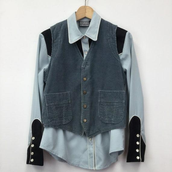 Vintage Cowboy Costume Shirt & Waistcoat