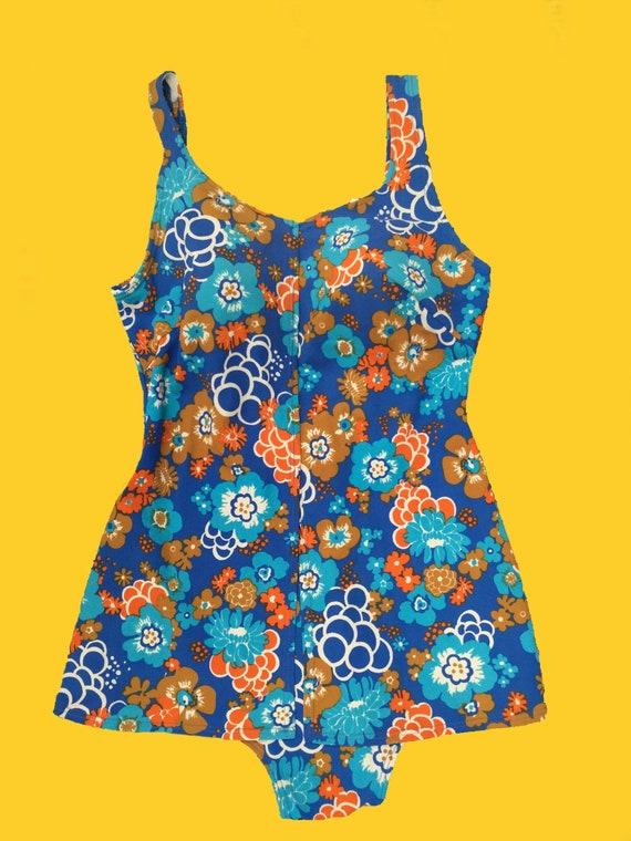 1960's Floral Swimsuit