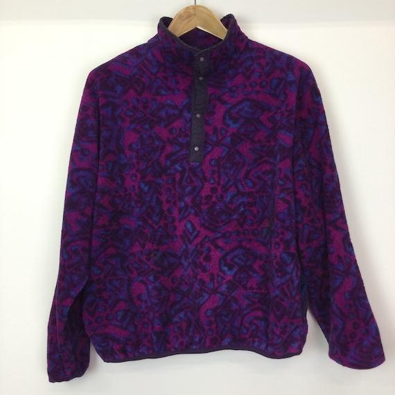 Vintage 1990's L.L Bean Purple Printed Fleece