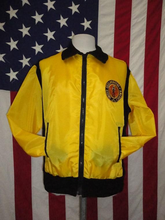 United Steelworkers of America sportswear jacket, 70's jacket, American sportswear, seventies shell jacket, vintage sportswear, made in USA