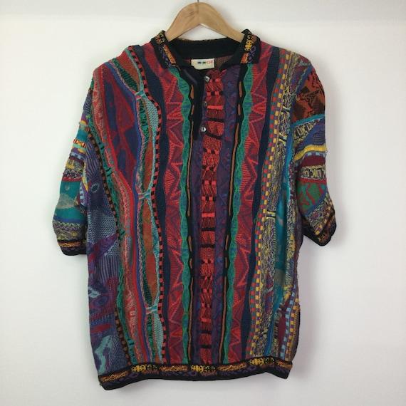 Vintage COOGI Multicoloured Faces Polo Shirt