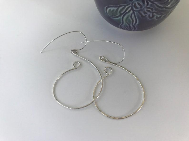 Silver Open Hoops image 0