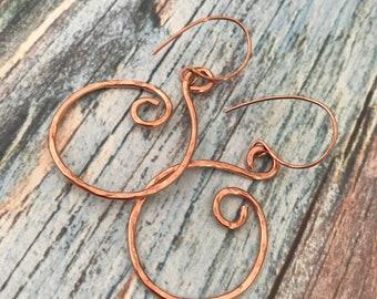 Chloe Copper swirl earrings