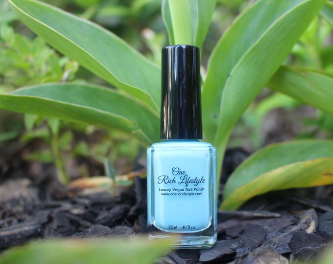 Featured listing image: Natural Nail Polish, Vegan Nail Polish, vegan beauty, blue nail polish, baby shower favor, wedding favor, nail polish for kids, toxin free