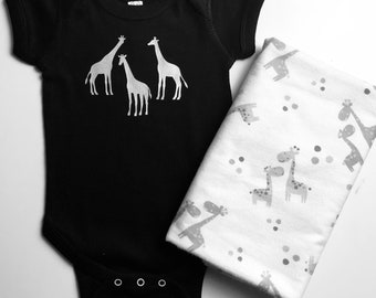 Giraffe Baby Set, Giraffe themed gift