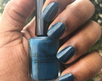 Vegan Nail Polish, Natural Nail Polish, Vegan nail polish, dark nail polish, dark blue nail polish,