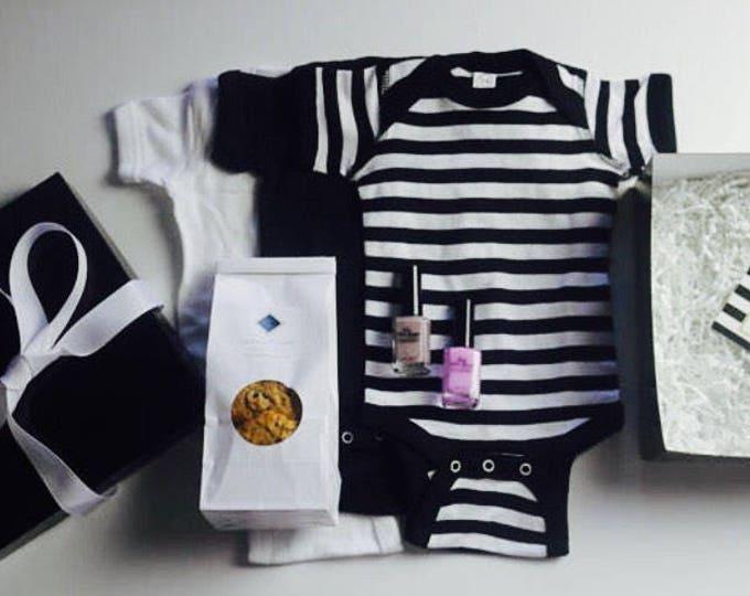 Featured listing image: New Mom Gift Basket, Baby Shower Gift Basket, Postpartum care basket,  new baby gift basket, baby shower gift basket, welcome baby