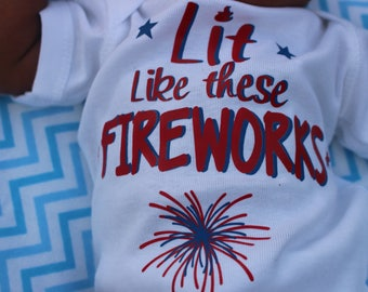 First July 4th Outfit, Lit 4th of July, 1st 4th of July baby, 4th of July birthday, 4th of July announement, 4th of July shower