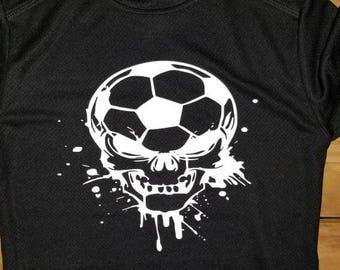 21c4594f954 Soccer Skull Shirt Soccer Skull Boys Soccer Shirt Boys Skull Shirt Soccer  Skull
