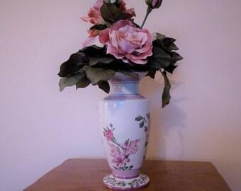 Floral Arrangement, Flower Arrangement of Antique Roses in a lovely ceramic vase