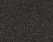 Black Tweed Upholstery Fabric by the Yard - Heavyweight Dark Grey Sofa Furniture Fabric - Zig Zag Furniture Fabric - Black Grey Pillows