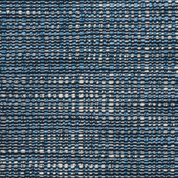 Dark Blue Tweed Upholstery Fabric   Light Blue Material For Furniture    Navy Textured Home Decor Fabric By The Yard   Kitchen Chair Fabric From ...