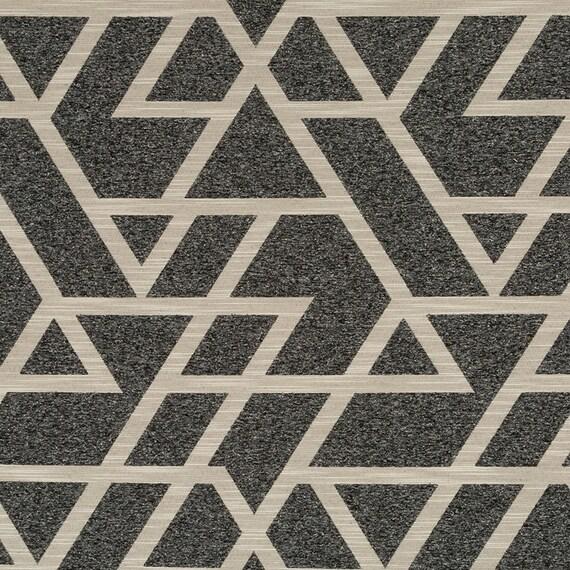 Terrific Charcoal Grey Geometric Upholstery Fabric Taupe Home Decor Fabrics Modern Grey Upholstery Fabric Custom Geometric Pillow Covers Interior Design Ideas Inamawefileorg