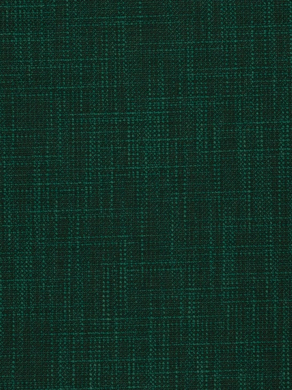 Dark Emerald Green Upholstery Fabric Woven Solid Color Etsy