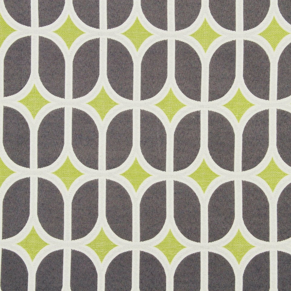 Grey Geometric Upholstery Fabric Modern Lime Green Fabric Etsy