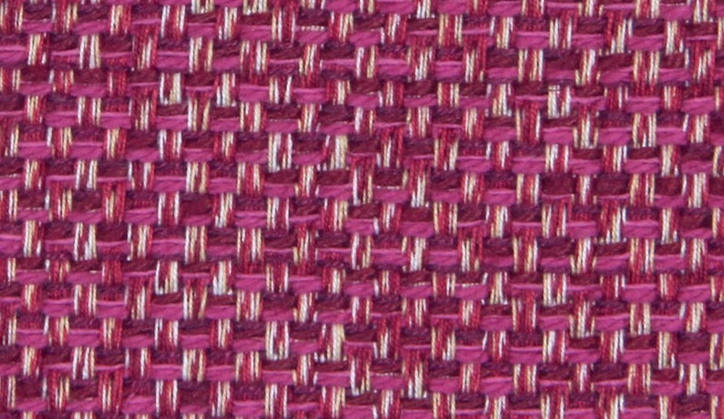 Fuchsia Tweed Upholstery Fabric Hot Pink Textured Fabric For Etsy