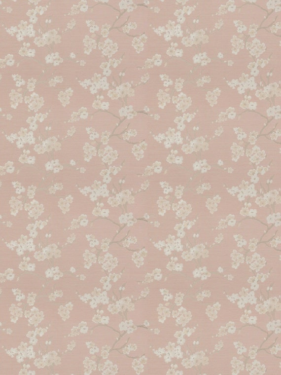 Blush Pink Upholstery Fabric Light Pink Floral Fabric Etsy