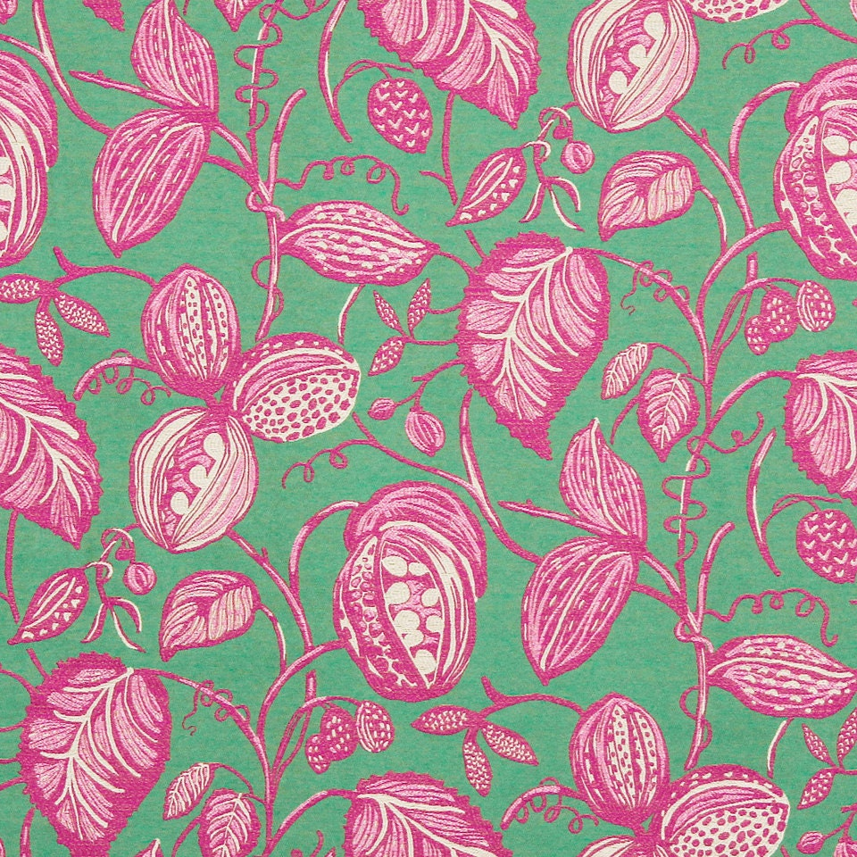 Pink Green Upholstery Fabric 4 Colors Available Modern Etsy