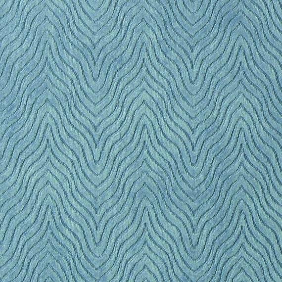 Modern Turquoise Velvet Upholstery Fabric Textured Turquoise Etsy