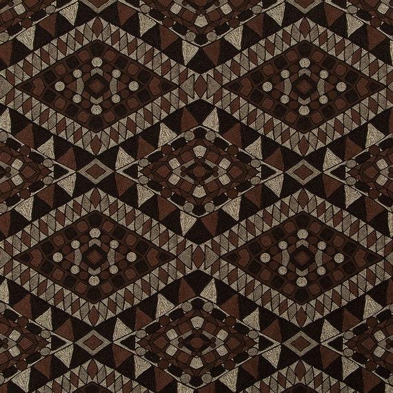 Dark Brown Upholstery Fabric Chocolate Brown Ethnic Etsy
