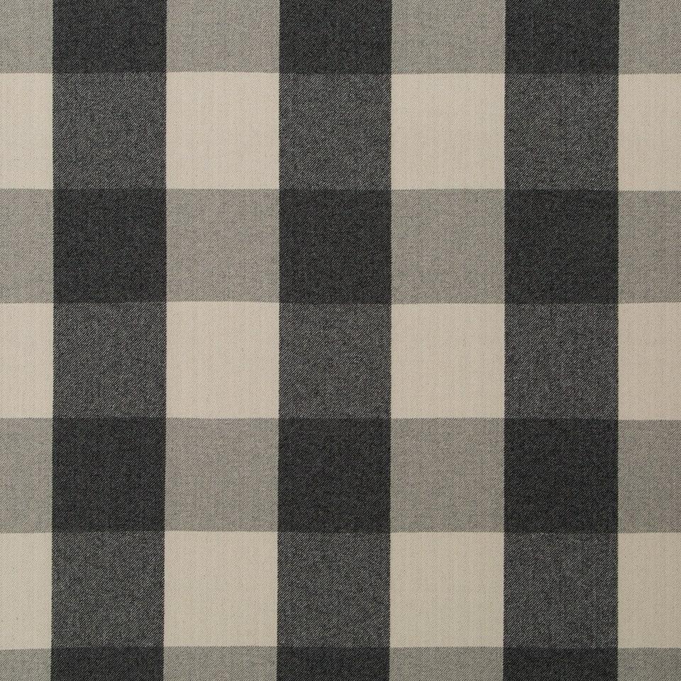 Black Plaid Upholstery Fabric Modern Black Grey Wool Fabric Etsy