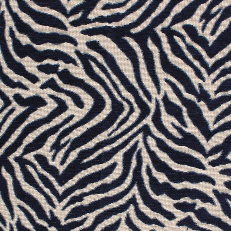Custom Dark Blue Pillows Blue Animal Upholstery Fabric Animal Home Decor Exotic Animal Fabric for Furniture Upholstery 3 Colors