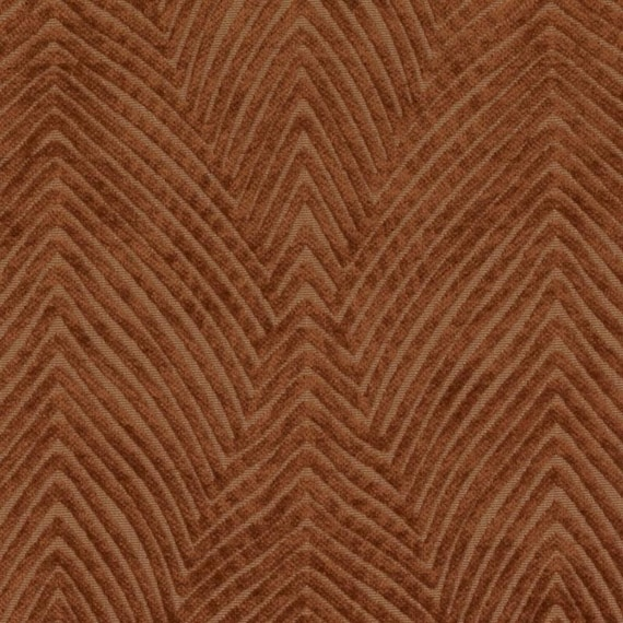 Modern Copper Brown Velvet Upholstery Fabric For Furniture Etsy