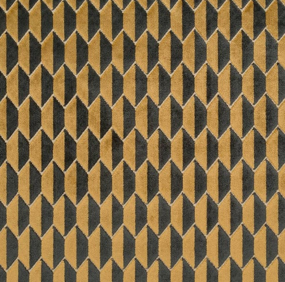 Dark Gold Velvet Upholstery Fabric for Furniture Black Gold