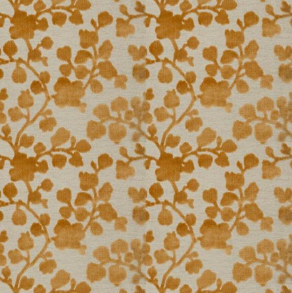 Gold Floral Velvet Upholstery Fabric Raised Velvet Fabric Etsy