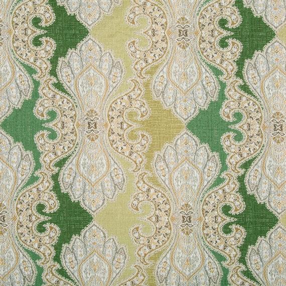 Green Damask Upholstery Fabric Modern Furniture Upholstery Etsy