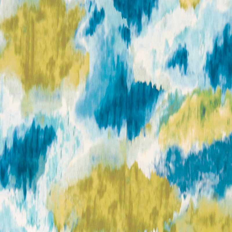 Modern Aqua Gold Upholstery and Drapery Fabric - Artistic Artistic Artistic Teal Gold Aqua Blue Fabric - Abstract Aqua Blue and Gold Pillows 40dbfb
