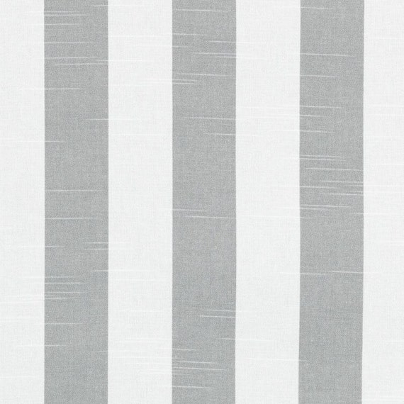 Grey Cotton Stripe Fabric Grey Stripe Upholstery Fabric Etsy