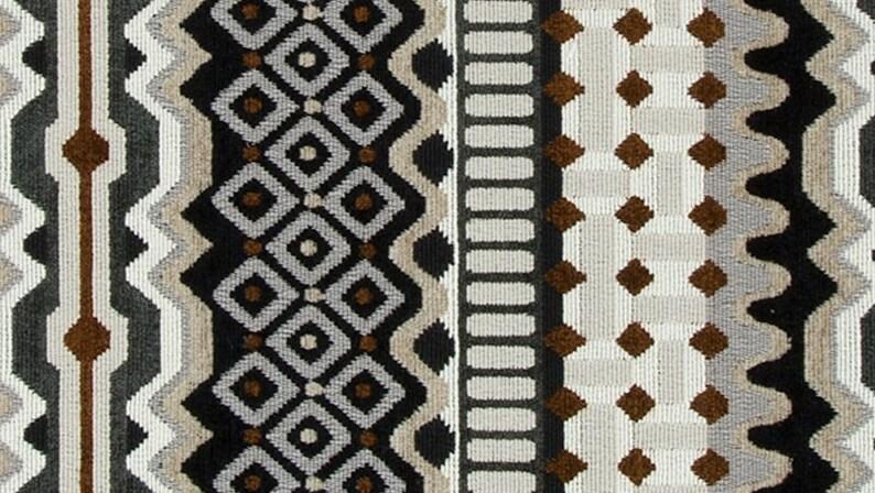 Black White Velvet Upholstery Fabric ON SALE image 0