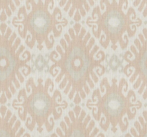Blush Pink Upholstery Fabric Light Pink Geometric Curtains Etsy