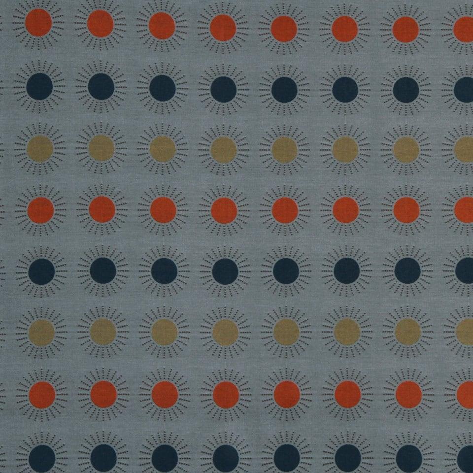 Orange Blue Geometric Upholstery Fabric On Sale Etsy