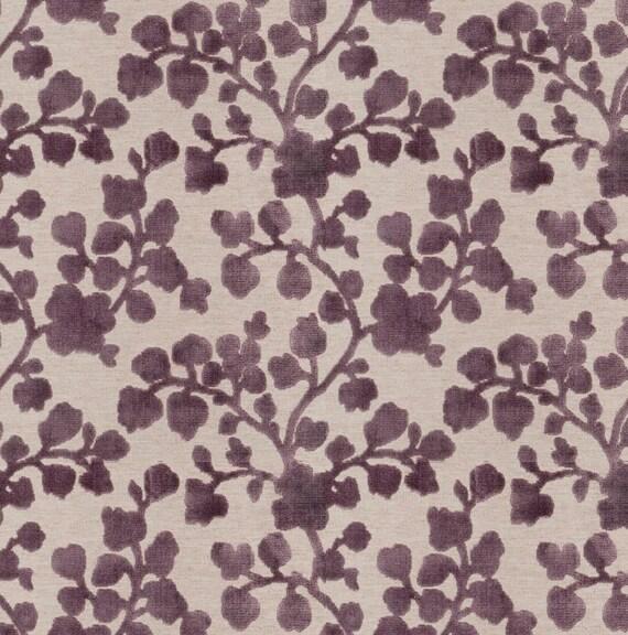 Purple Floral Velvet Upholstery Fabric Raised Velvet Fabric Etsy